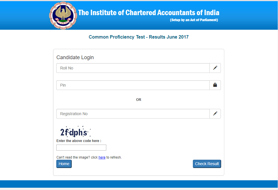 cpt result for june 2017 exam screenshot