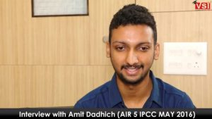 ipcc may 2016 topper interview amit dadhich