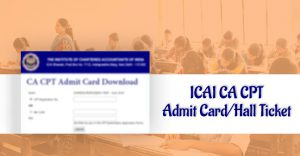 download ca cpt admit card