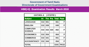 Tamilnadu 12th result 2020 details