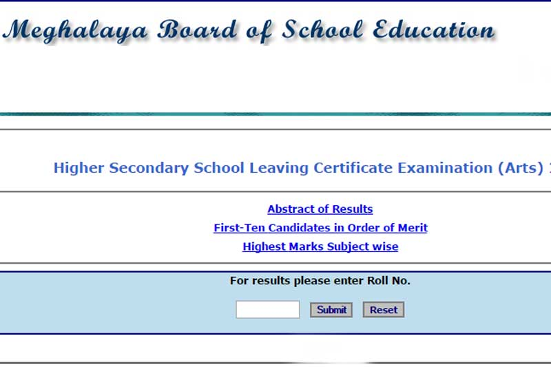 Check MBOSE HSSLC Results 2020 Online